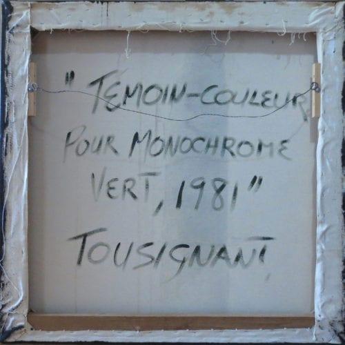 Claude Tousignant-Temoin-couleur pour monochrome vert