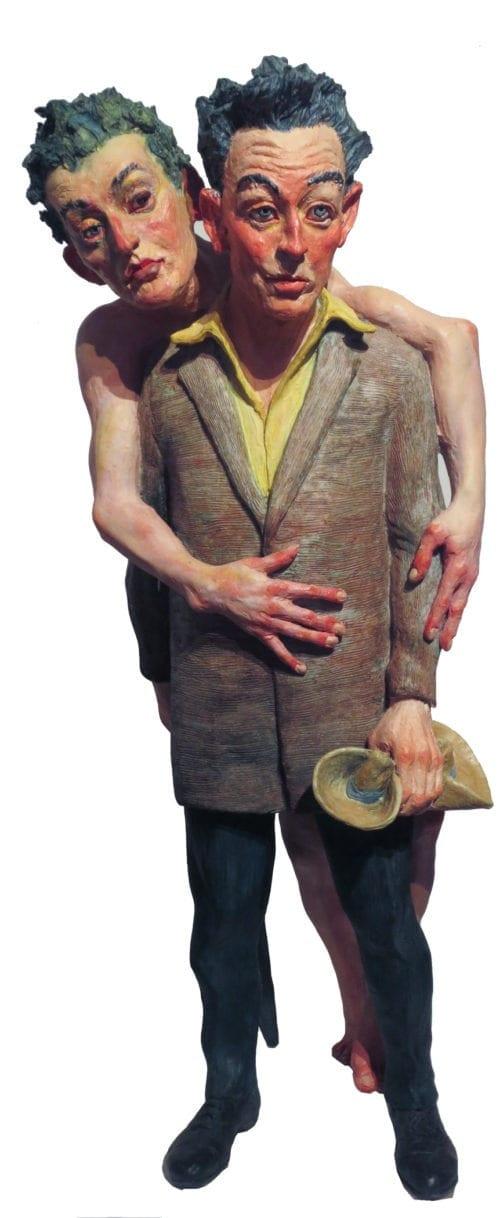Joe Fafard-Painter and His Model (Egon Schiele) Mes Amis Series