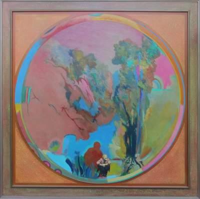Tony Urquhart-My Garden with Rainbow