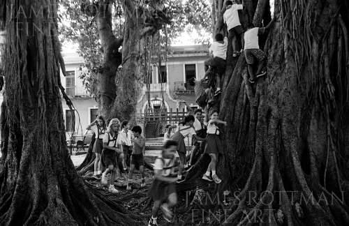 Vincenzo Pietropaolo-Schoolchildren on Recess Parque Aguirre Havana