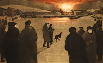David Blackwood, 1974, The Burning of William Fifield's Forge