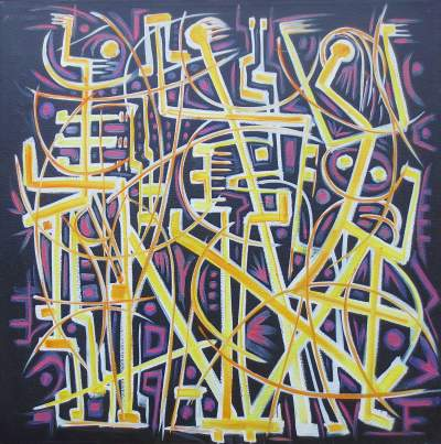 Charles Sucsan, 2001, Graffiti on Black